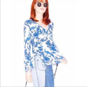 ONE TEASPOON blouse top Peacock Print Size 10